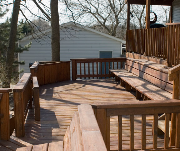 multi tiered deck building