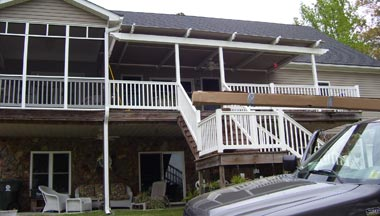 Attached deck construction