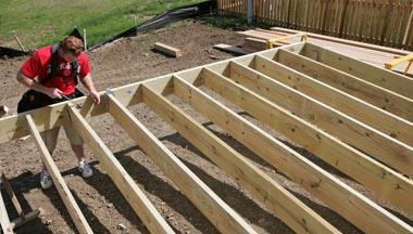 Attached deck construction Grand Rapids
