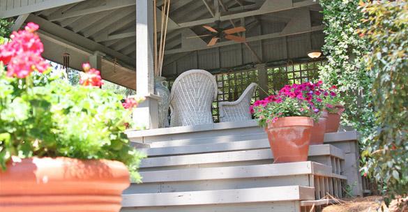 multi tiered porch